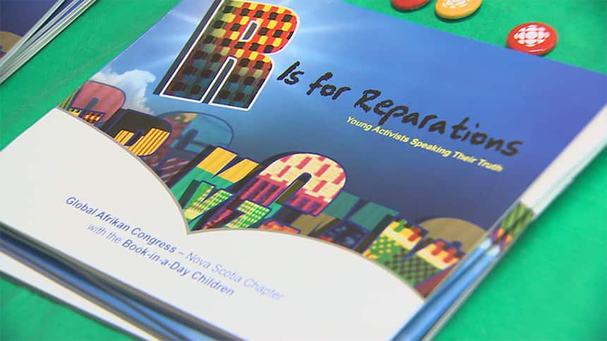 A book cover that says R Is for Reparations