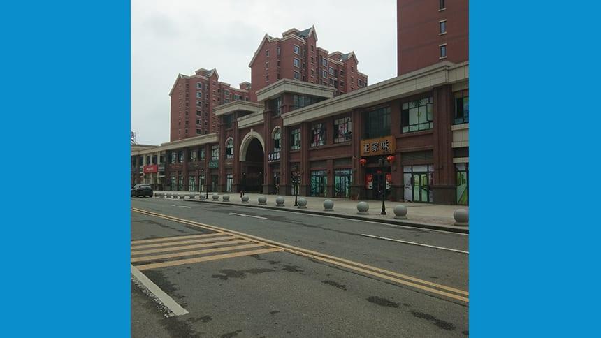 An empty city street