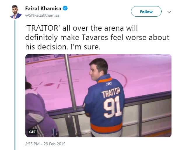 Tweet from Faizal Khamisa shows man in jersey with number 91 and the word traitor on top. Tweet reads