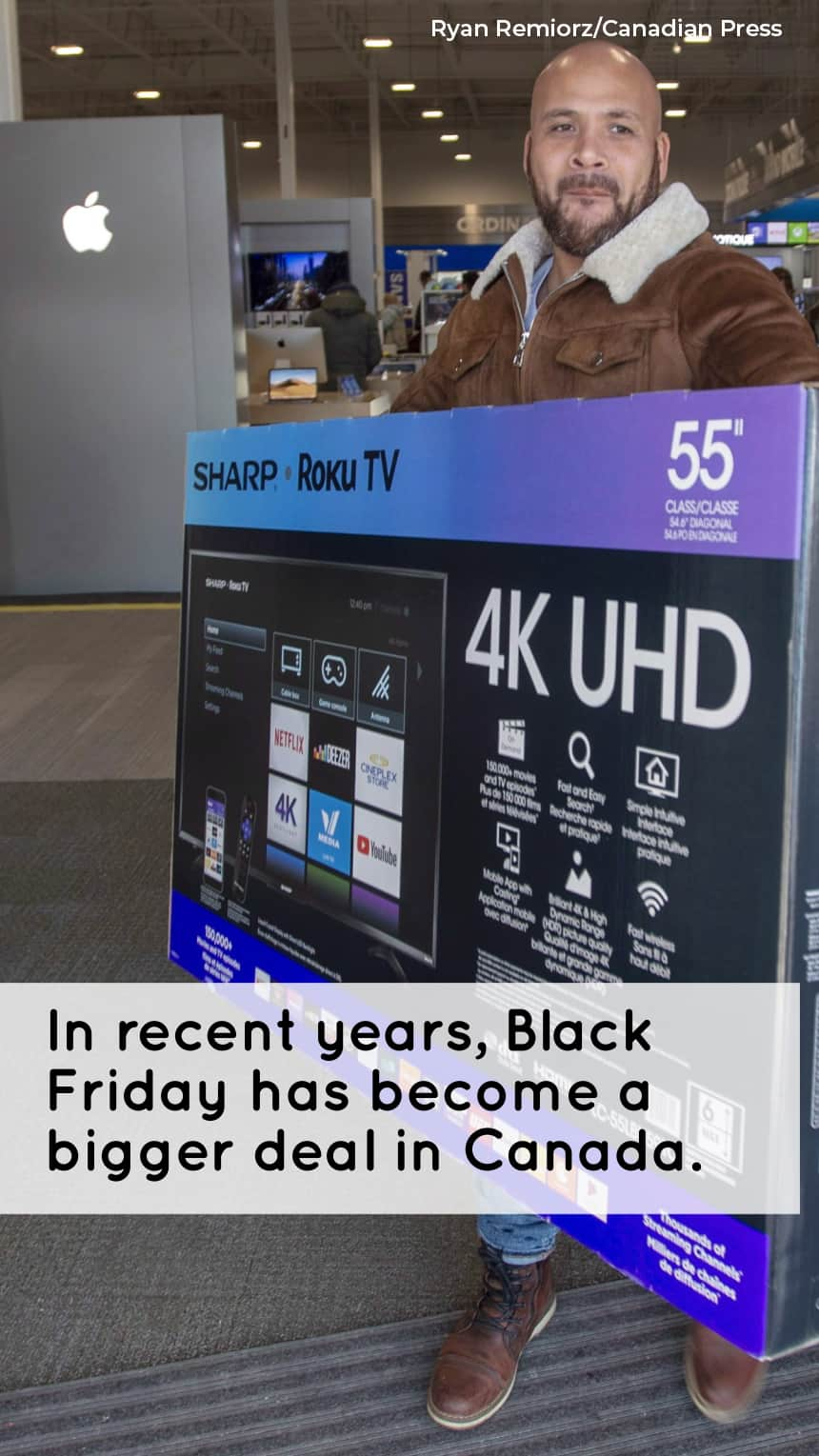 In recent years, Black Friday has become a bigger deal in Canada.