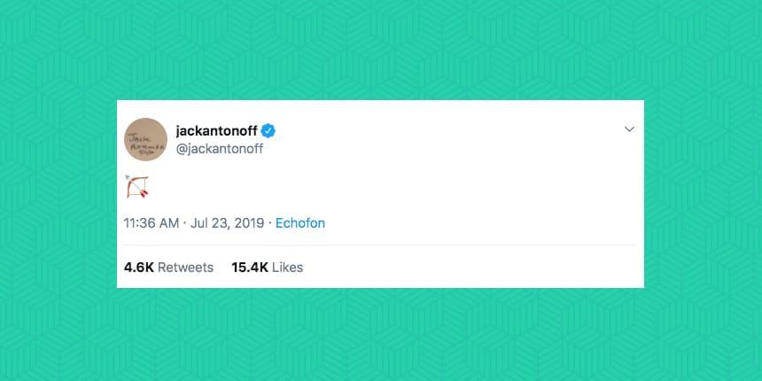 jackantonoff tweeted an emoji of a bow and arrow