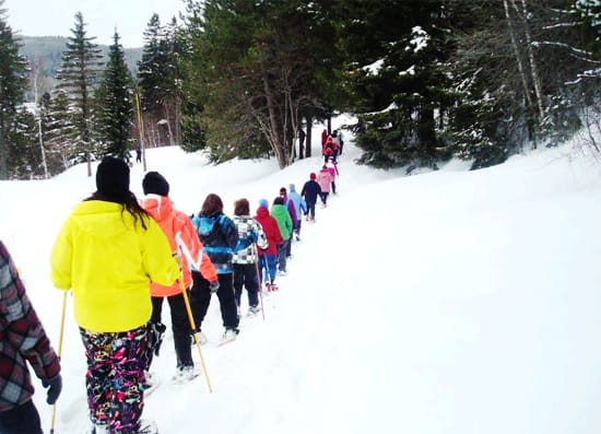 Snow Shoeing in Edmundston