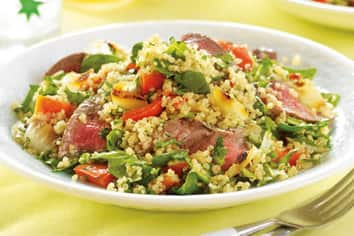 Charred Beef and Vegetable Quinoa Salad
