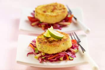 Crab Cakes and Asian Slaw
