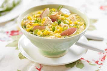 Corn and Salmon Chowder