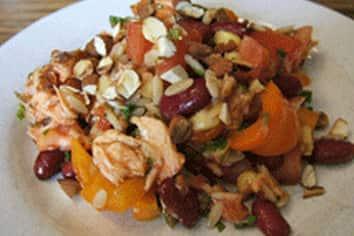 Salmon, Bean, and Orzo Salad