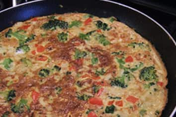 Vegetable and rice frittata