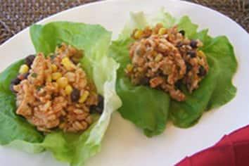 Turkey and Bean Rice Wraps