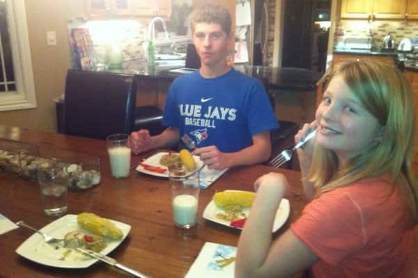 Margaret's Kids at Dinner