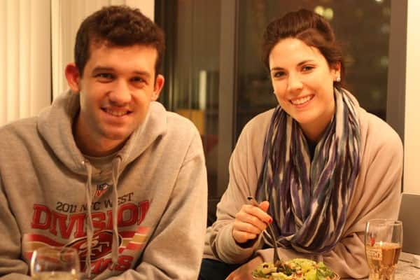 Meghan and Darren at Dinner