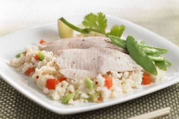 Asian Steamed Fish Coconut Rice