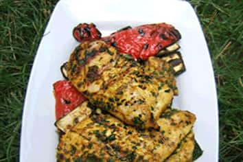 Grilled veggies and chicken