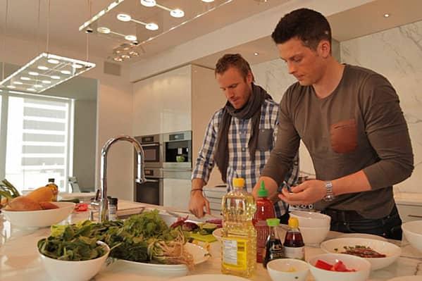 Cooking with The Tenors: Sea bass