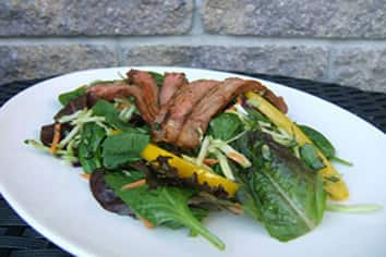 Thai curry steak salad