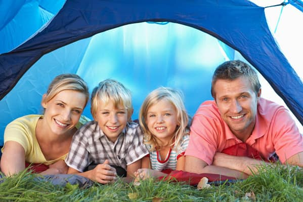 Camp out in your backyard