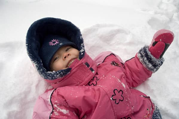Get your kids to go outside in the winter!