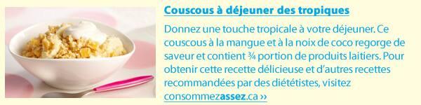 Tropical breakfast couscous