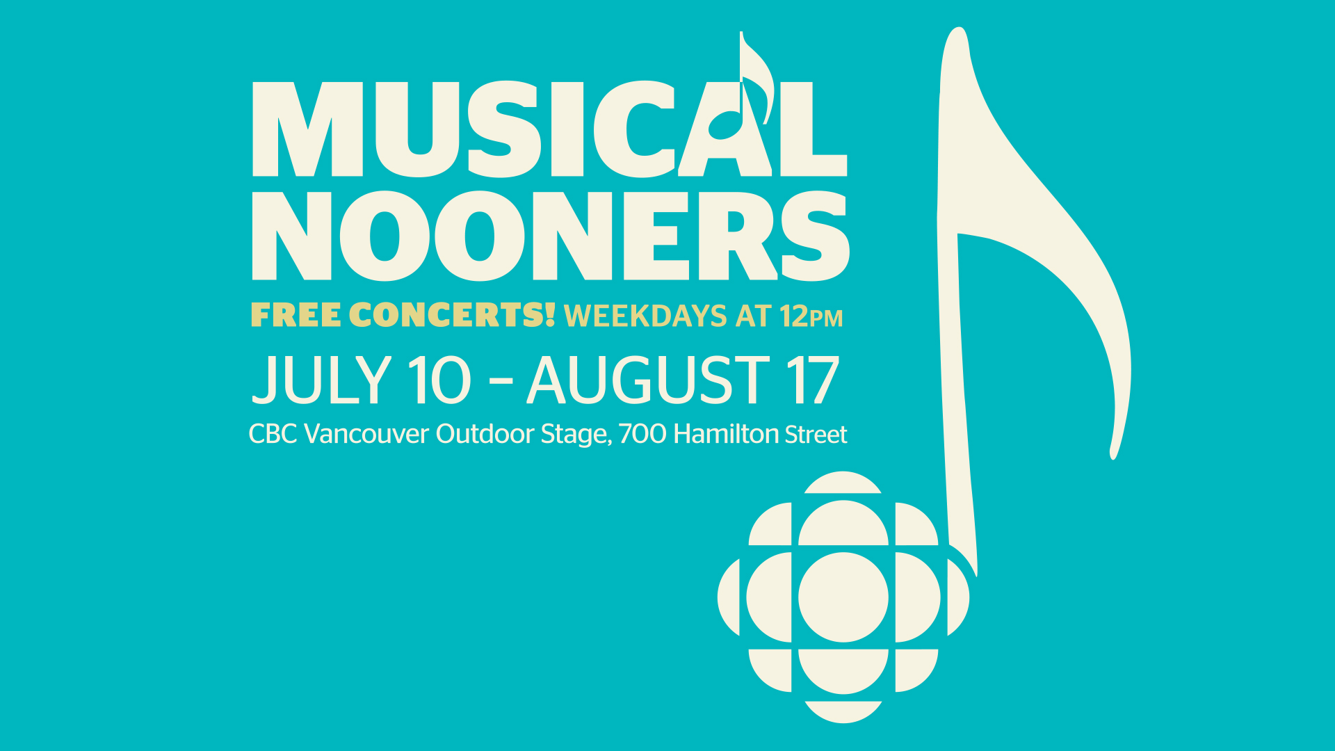 CBC Vancouver's Musical Nooners Return with Special Opening Day Celebrating Indigenous Culture