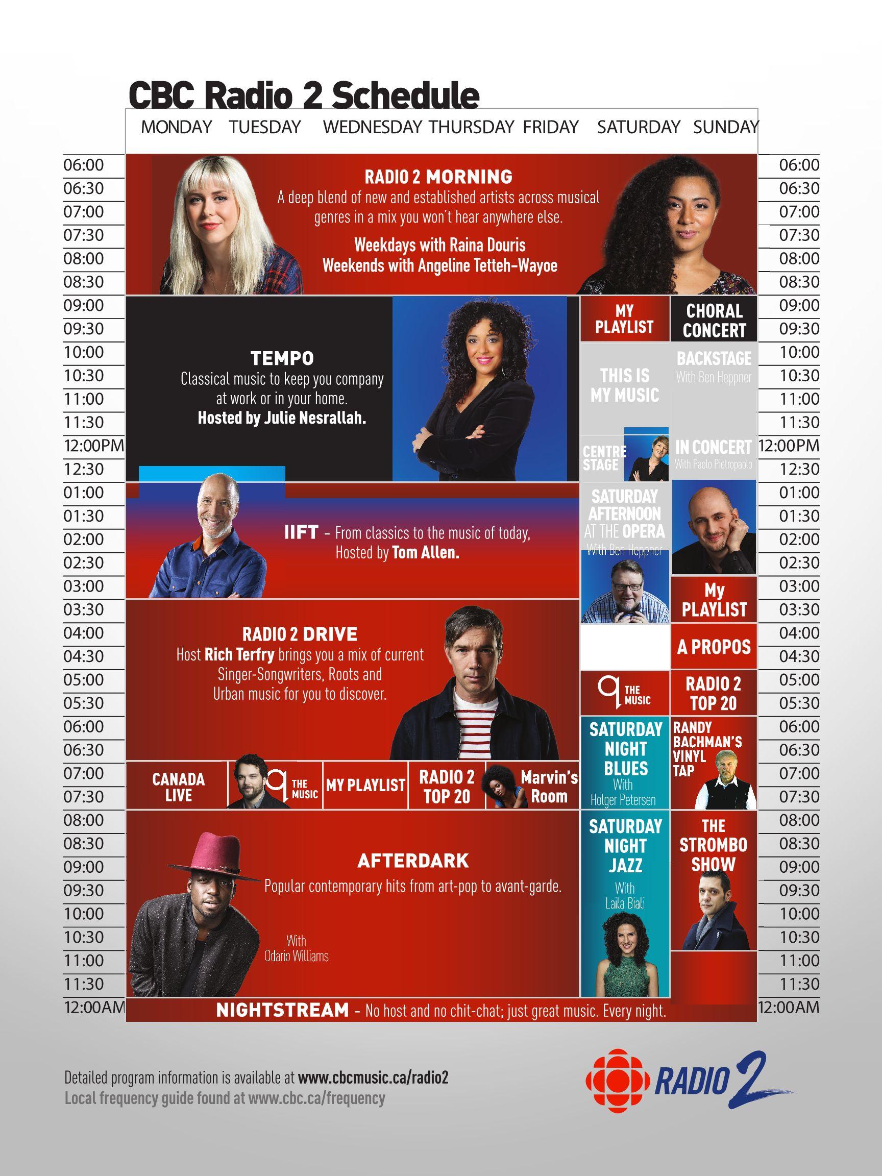 CBC Radio 2 Schedule