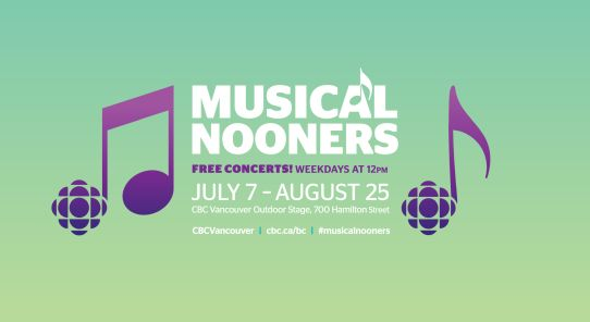 CBC Vancouver's Musical Nooners Returns with Special Two Hour Show Featuring Said the Whale