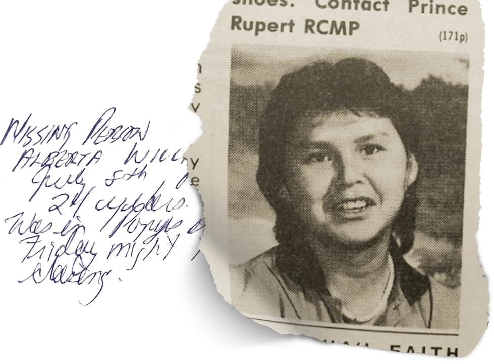Crime Time Online: The Murder of Alberta Williams & the Highway of Tears