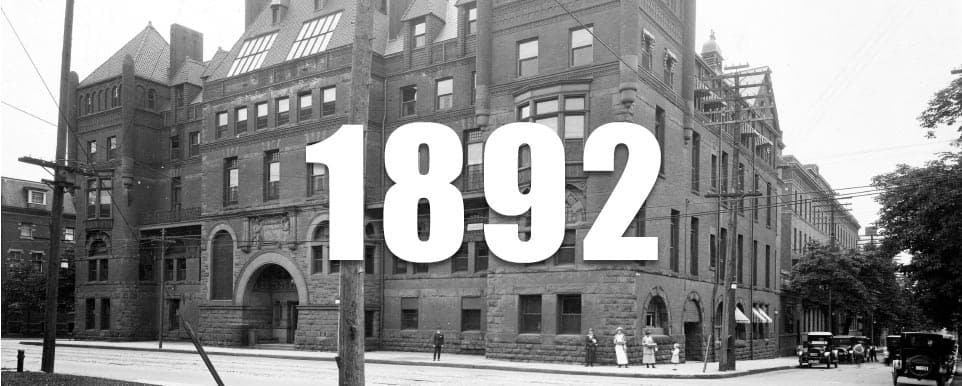 1892 - From 16 beds to 320