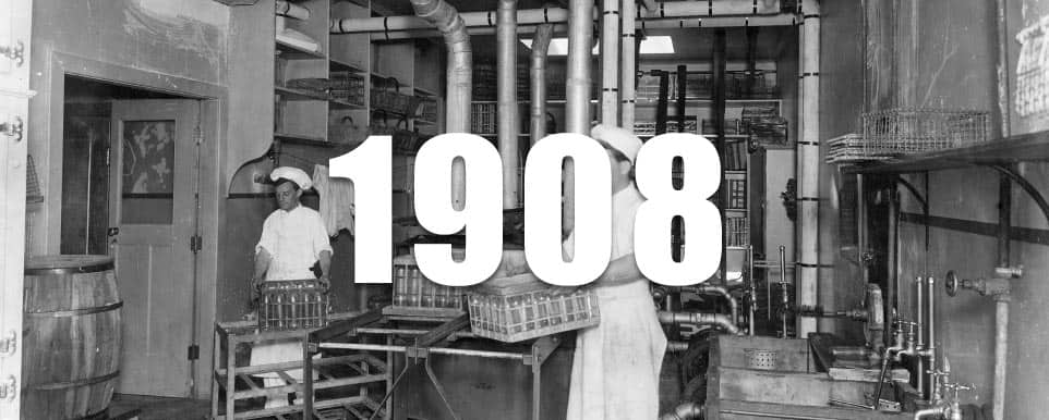 1908 - The first Canadian milk pasteurization plant