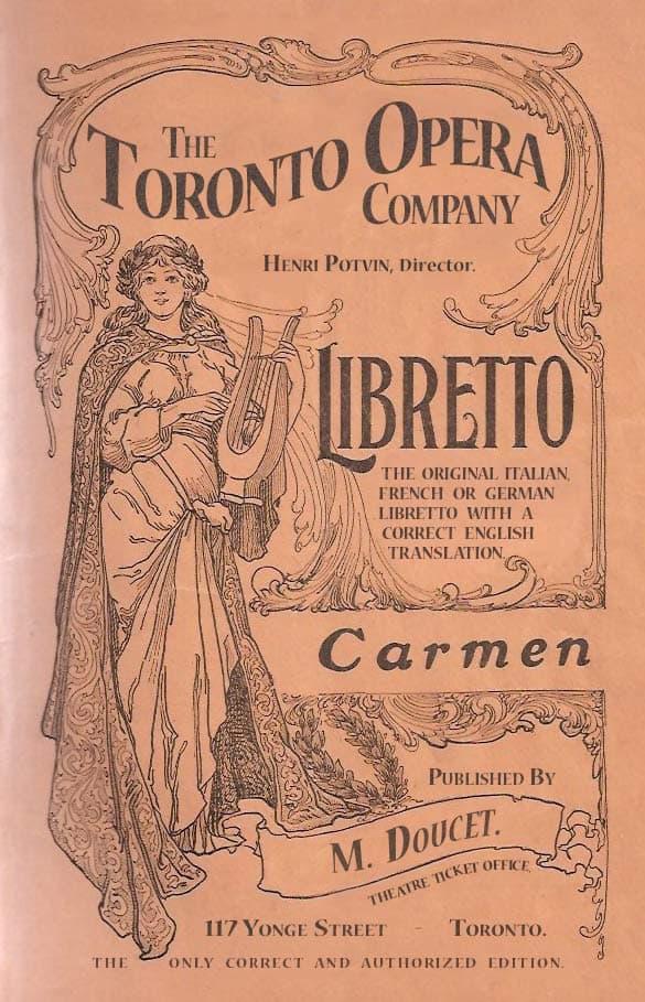 A playbill for the opera Carmen