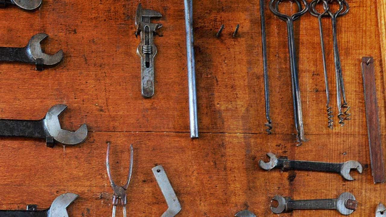 Wall of tools - one appears to be missing