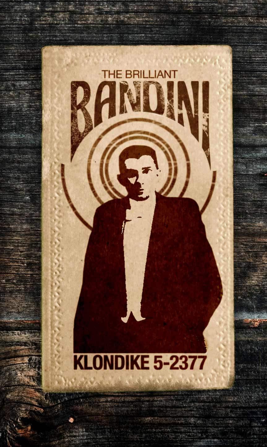 A calling card for The Brilliant Bandini, Mentalist Extraordinaire.