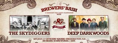 Skydiggers, Deep Dark Woods To Play Fredericton's Brewer's Bash In July