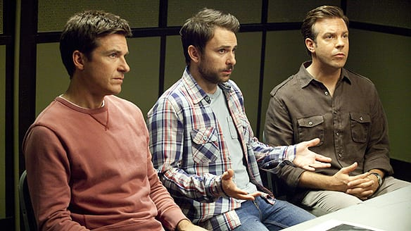 Horrible Bosses stars, from left, Jason Bateman as Nick, Charlie Day ...: http://www.cbc.ca/news2/arts/things-that-go-pop-blog/2011/07/film-review-horrible-bosses.html