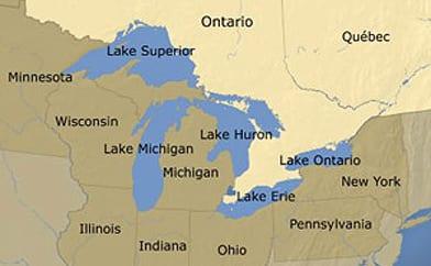 Lake Huron ThingLink - Usa map great lakes