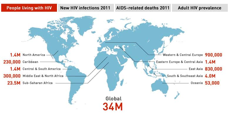 Aids Map Of Africa.Cbc News Interactive Aids