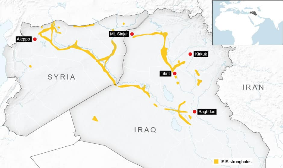 How the Islamic State pushes across Iraq and Syria - Interactive ...