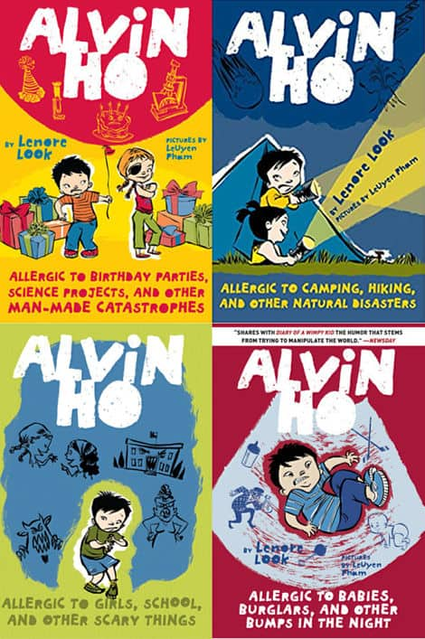 Book covers: Alvin Ho series