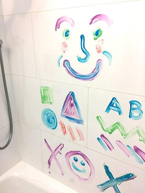 bath paint on tiles