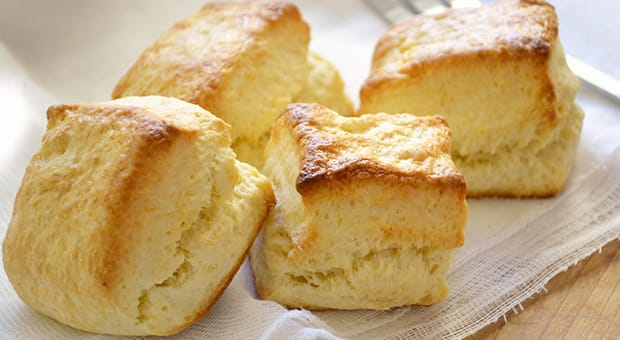 Freshly baked biscuits.
