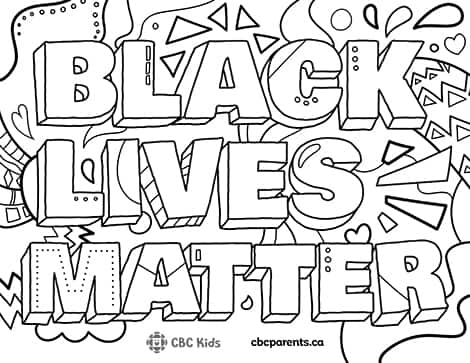 Black Lives Matter colouring sheet