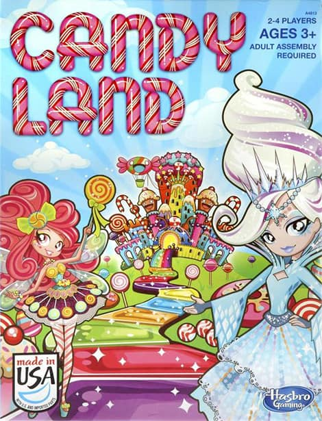 Candyland board game.