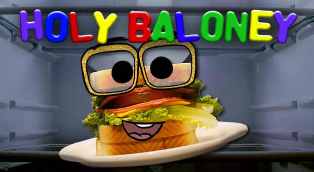 Tony Baloney, the cartoon sandwich host of Holy Baloney