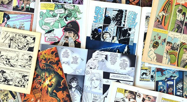 An array of vintage comic books