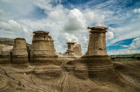 The hoodoos in Drumheller