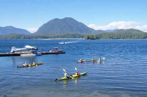 People kayaking in Tofino