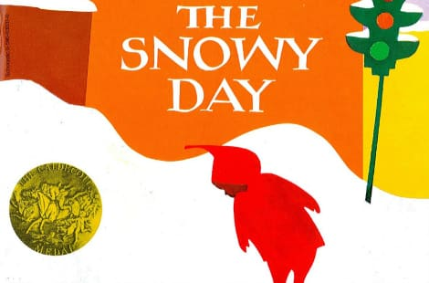 Book cover: The Snowy Day