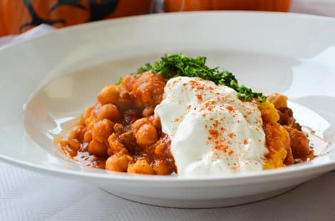 Chickpea stew made from Instant Pot.