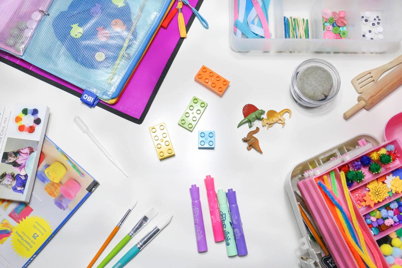 Various materials that can be used in activity kits!