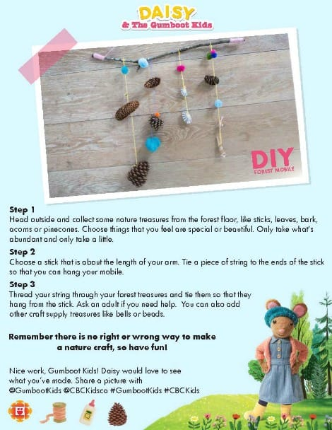 Daisy's forest mobile printable