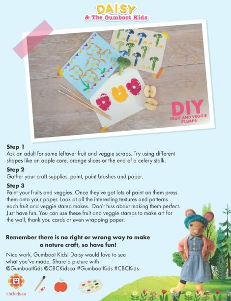 Daisy's fruit stamps printable