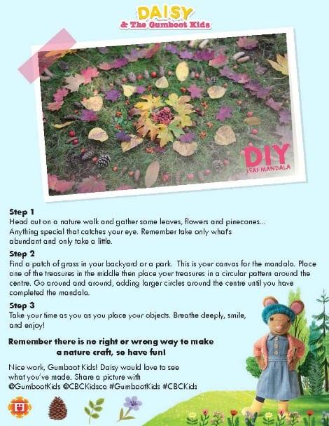 Daisy's leaf mandala printable